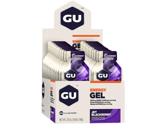 GU Energy Gel Box 24x32g, Jet Blackberry (2019) | Energy gels
